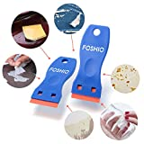 FOSHIO 2PCS Plastic Razor Scrapers Knife with