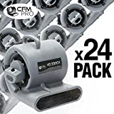 120v stackable washer and dryer - CFM PRO Air Mover Carpet Floor Dryer 3 Speed 1/3 HP Blower Fan with 2 GFCI Outlets - Stackable - Grey - Industrial Water Flood Damage Restoration (24 Pack)