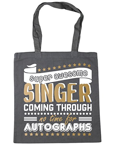 Shopping Singer x38cm For Tote Through 42cm litres Awesome Graphite Grey Gym Coming Bag Autographs HippoWarehouse Time Beach 10 No Super Axfqvv