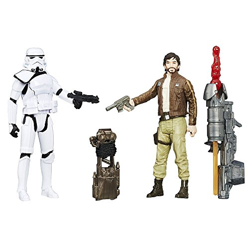 Star Wars: Rogue One, Captain Cassian Andor and Imperial Stormtroopers Exclusive Action Figures, 3.75 Inches]()