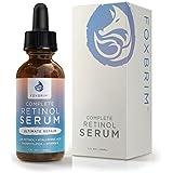 Foxbrim Retinol Facial Serum - 2.5% Phospholipid Based - Anti Aging Face Serum - With Vitamin A, Hyaluronic Acid & Organic Jojoba Oil - 1OZ
