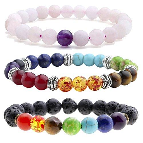 JOVIVI Chakras Gemstone Bracelet Natural
