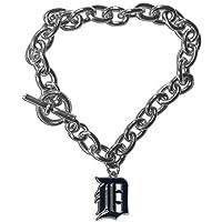 MLB Detroit Tigers Charm Chain Bracelets, 7.5-Inch