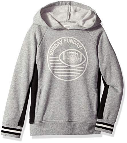 Gymboree Boys' Big' Long Sleeve Hooded Sweatshirt, Grey Zone, M (Gymboree Boys Sweater)