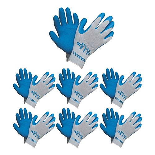 Atlas Fit 300 Blue Latex Palm-Dipped Blue Rubber Work Glove X-Large, 72-Pair by Atlas Showa (Image #5)