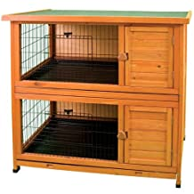 Ware Manufacturing Premium Plus Double Decker Hutch for Rabbits and Small Pets