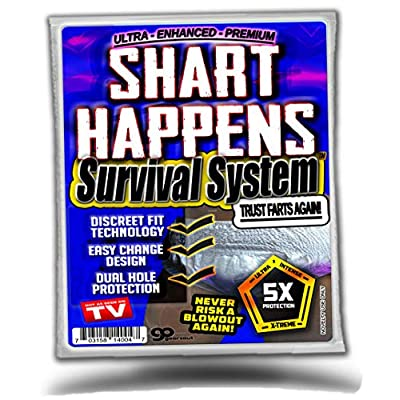 Gears Out Shart Happens Survival System - Next Time You Shart Be Prepared - Never Risk a Blowout Again - Discrete Fit Technology: Toys & Games