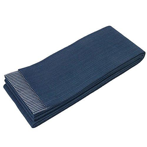 (KYOETSU Men's Japanese Kasuri Kaku Obi Kimono Belt Cotton (Blue) )