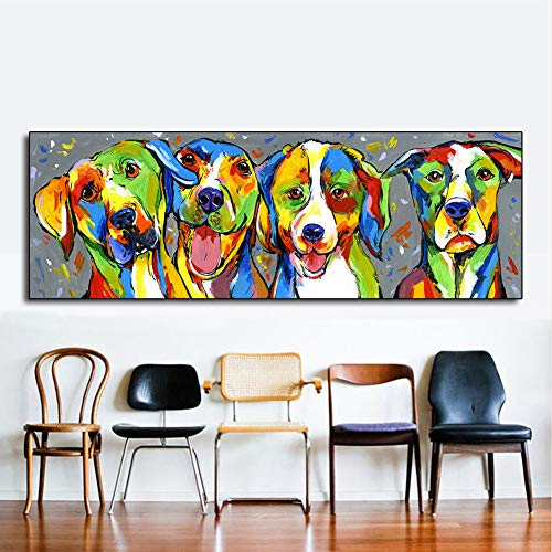 Colorido creativo Perro para mascotas Arte de la pared ...