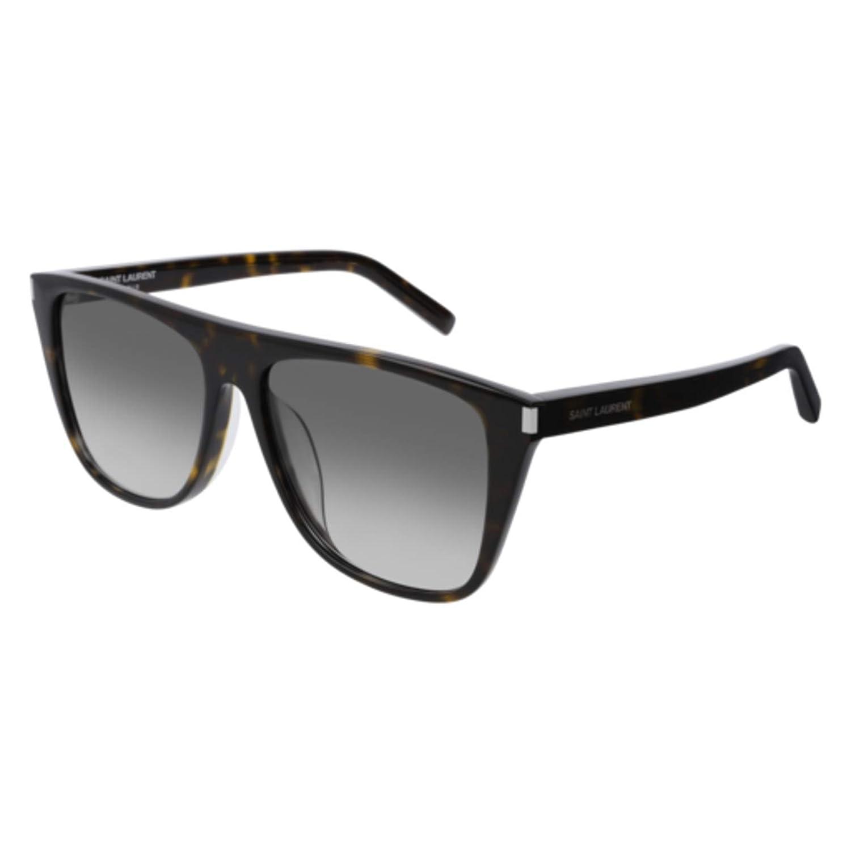 003 HAVANA//GREY Sunglasses Saint Laurent SL 1 //F