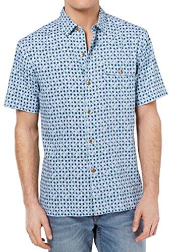 Bahama 100% Silk Shirt - Tommy Bahama Atomic Geo Silk Camp Shirt (Color Opal, Size 3XL)