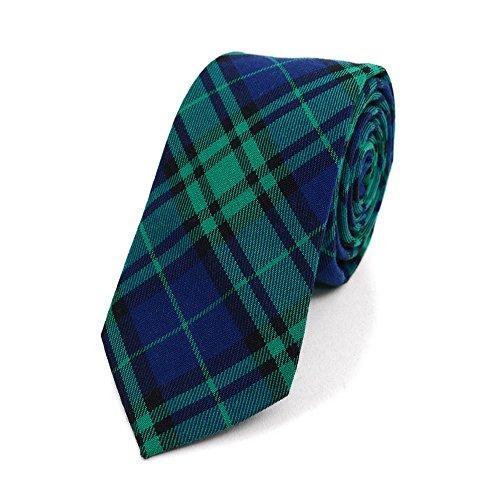 Slim Plaid Flannel Tie