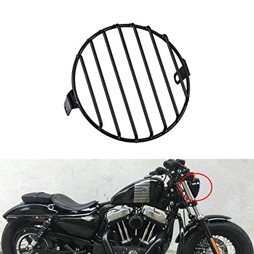 KaTur Universal 7inch Motorcycle Headlight Mesh Grill Mask Headlamp Protector Guard Square/Rhombus Cover