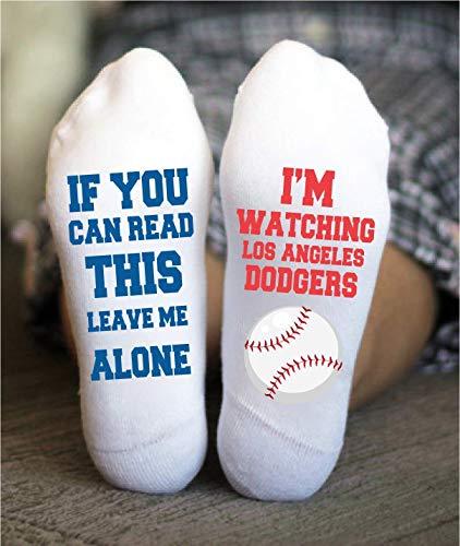 Los Angeles Dodgers Socks Funny Birthday Gifts Baseball Team