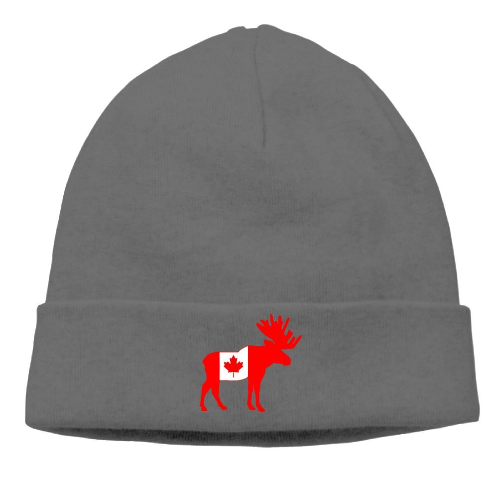 Canada Flag Moose Unisex Casual Fashion Durable Winter Warm Skull Cap