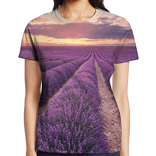 Womens Provence Lavender Classic Tshirts For Sports Baseball Gym Workout Jogging Hiking Sweatshirt Tees Shirts