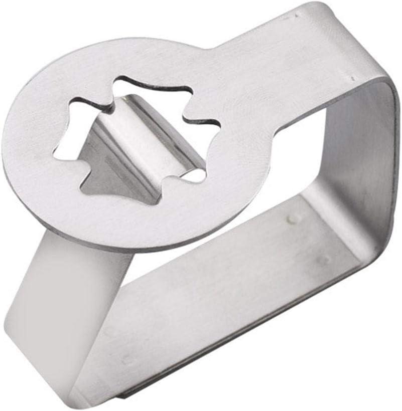 Silber 4 St/ück Tischtuchklammern Edelstahl Tischdeckenklammer Tischabdeckungsklemmen Tischdecke Clips Tischtuch Clips