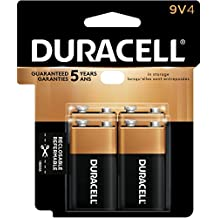 Duracell Coppertop 9V Alkaline Batteries, 4 Count