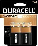 Duracell CopperTop Alkaline Batteries, 9V, Pack of 4 Batteries (MN16RT4Z)