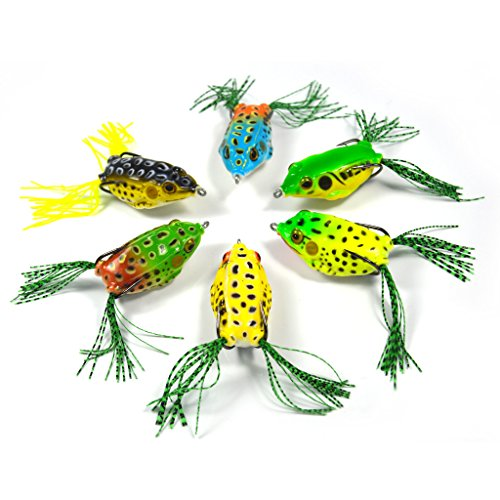 Supertrip Topwater Frog Crankbait Tackle Crank Bait Bass Soft Swimbait Lures Crankbaits Baits Hard Bait Fishing Lures(Multicolors) from Supertrip