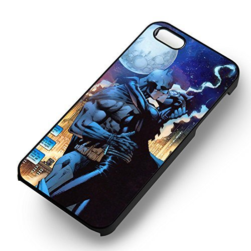 Batman Wonder Woman Kissing pour Coque Iphone 6 et Coque Iphone 6s Case (Noir Boîtier en plastique dur) R8I5IV