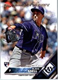 2016 Topps Update #US40 Blake Snell Tampa Bay Rays Baseball Rookie Debut Card in Protective Screwdown Display Case