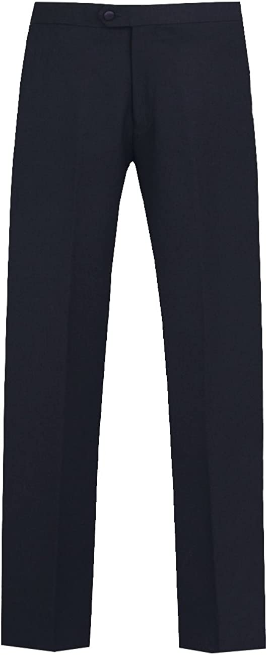 1920s Men's Fashion UK | Peaky Blinders Clothing   Navy Tuxedo Trousers Regular Fit Satin Side Stripe Dobell Mens £30.00 AT vintagedancer.com