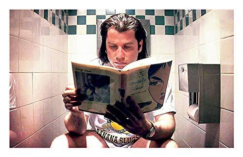 - MugKD LLC Pulp Fiction Movie Poster - Vincent Vega Print - Funny Bathroom, Classic, Digital Oil Painting, Home, Art [No Framed] Poster Home Art Wall Posters (16x24)