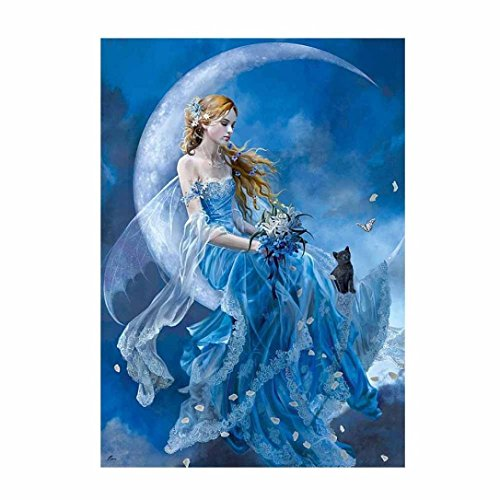 d Painting Rhinestone Pictures Of Crystals Embroidery Kits Home Wall Decoration Craft Figure Theme (Fairy & Moon) ()