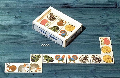 Atelier Fischer Wooden Animal Domino Game in Wooden Box (28 Tiles)