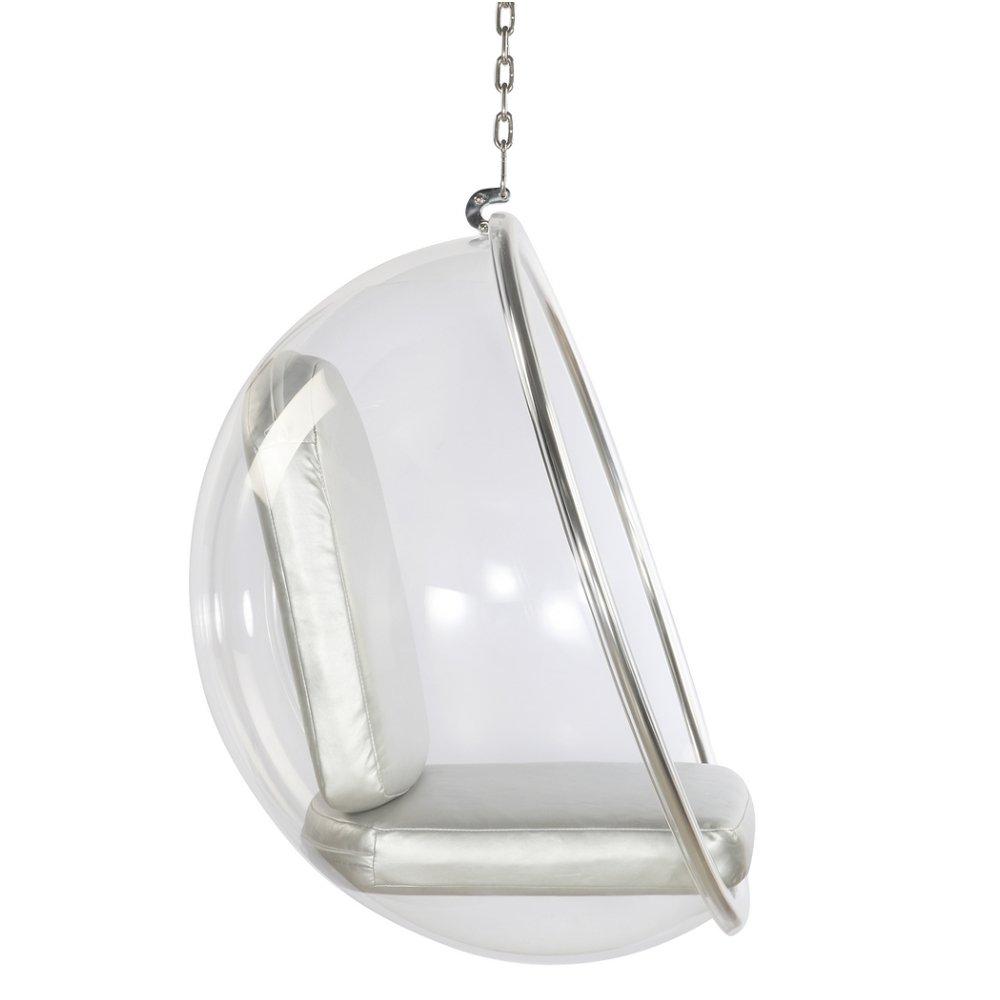 Bubble chair eero aarnio - Amazon Com Designer Modern Bubble Chair By Eero Aarnio 1968 With Silver Cushion Kitchen Dining