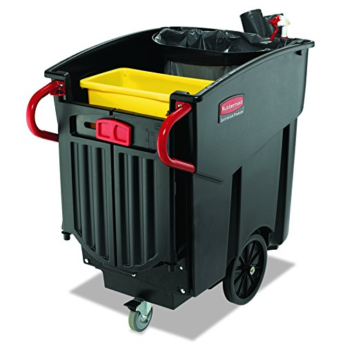 Rubbermaid Commercial 9W73BLA Mega Brute Mobile Container, Rectangular, Plastic, 120 Gallon, ()