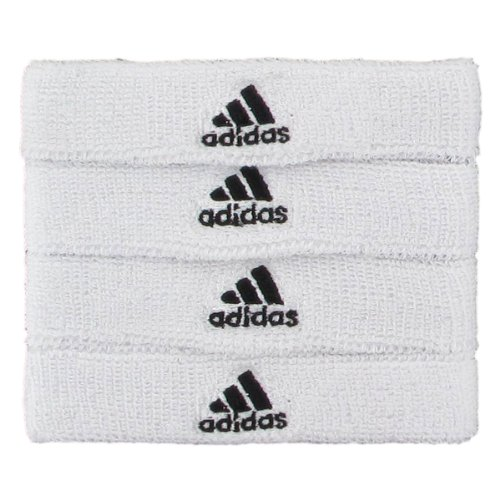 adidas Interval 3/4-inch Bicep Band Sweatband, White/Black, One Size Fits All