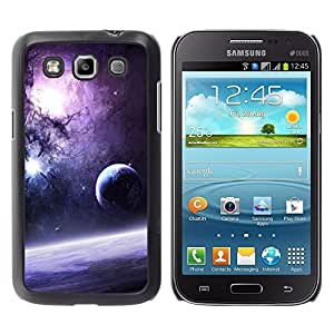 Design for Girls Plastic Cover Case FOR Samsung Galaxy Win I8550 Galaxy Purple Sun Stars Moon Planets Dust Space OBBA