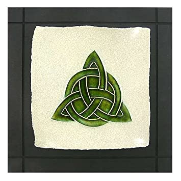 Celtic Trinity Knot Ceramic Tile Wall Hanging 75 Square Wall