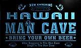 qa2011-b Hawaii State Cities Man Cave Football Bar Neon Beer Light Sign