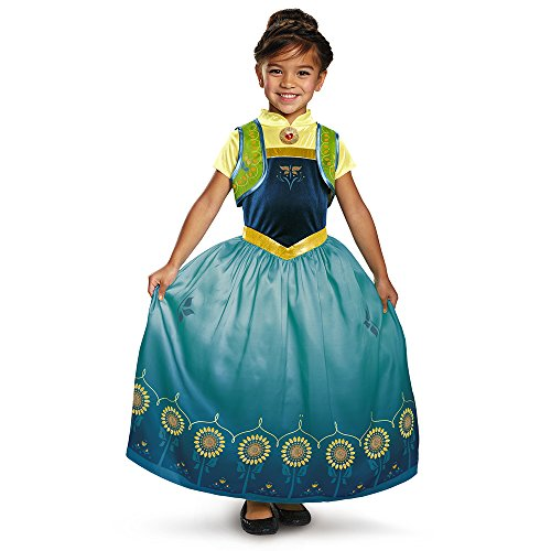 [Disguise Anna Frozen Fever Deluxe Costume, One Color, Medium (7-8)] (Anna Costume Ideas)