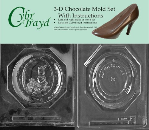Cybrtrayd E308AB Chocolate Candy Mold, Includes 3D Chocolate