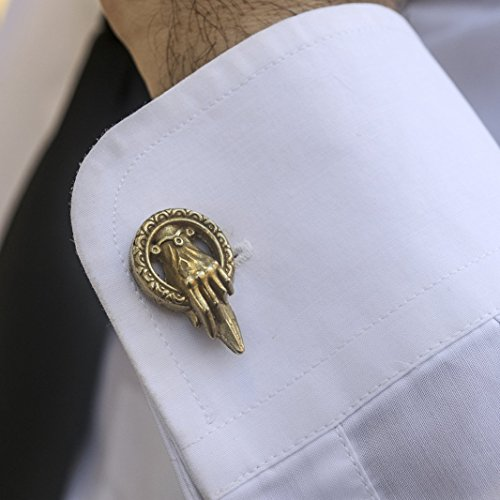 Cufflinks Hand of the King in golden Brass by San San Atelier