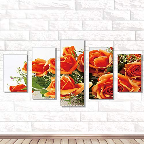 DIY 5D Diamond Painting by Number Kit, Full Drill Peony Flowers Rhinestone Embroidery Cross Stitch Supply Arts Craft Canvas Wall -