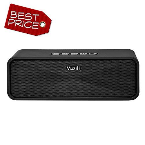 Bluetooth speaker,Muzili Super-Portable HiFi Sound Speaker Bluetooth4.0 with FM Radio & Micro SD Slot,Built-in Mic for handfree phone call
