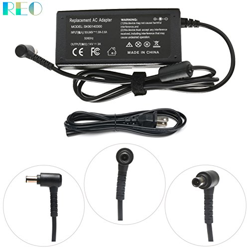 - 14V 3A 42W AC/DC Adapter charger for Samsung SyncMaster TV LCD/TFT 770 S22A300B S20A350B S22A100N S27b550V S23b550V UE590 UE510 UN22F5000AF SA650 C24F390 C27F398 Monitor Power Supply Cord/Cable