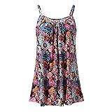 Women Printed Dress Sleeveless Vest Blouse Tank Tops Clothes