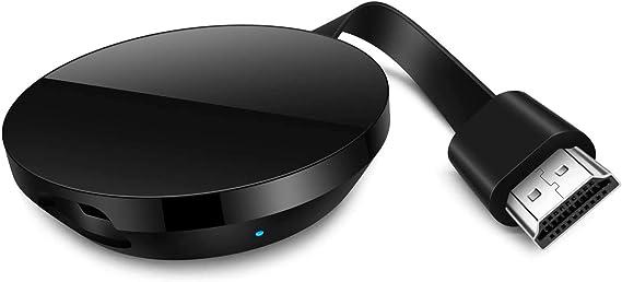 WiFi Dongle inalámbrico con Pantalla,HDMI 1080P Digital TV Adaptador de Receptor, Soporte del Sistema Android para Google App Chromecast ...