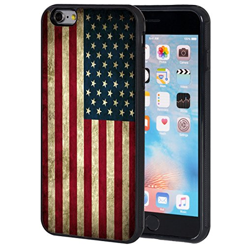 iPhone 6S Plus Case,iPhone 6 Plus Case,AIRWEE Slim Impact Resistant Shock-Absorption Silicone TPU Back Protective Case Cover for iPhone 6/6S Plus 5.5 inch,Old American Flag