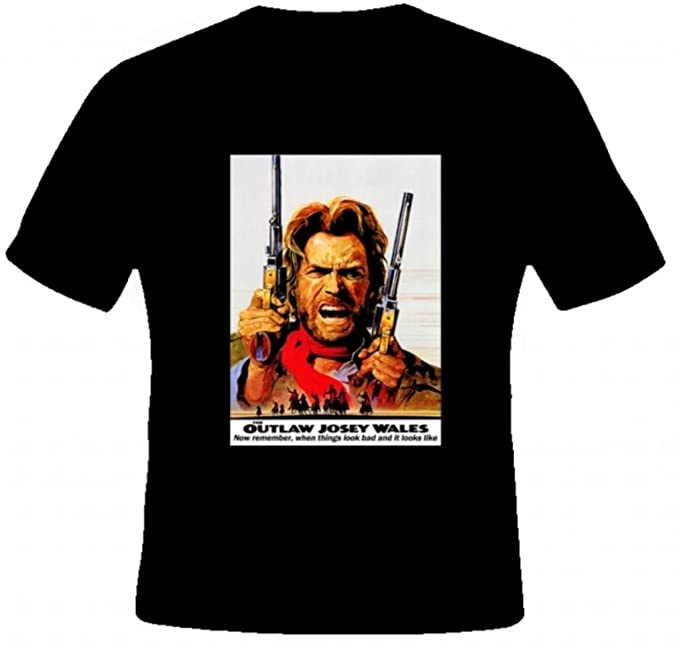 d3fbec579db AlStyle Men s Outlaw Josey Wales Eastwood Quotes Western Cowboy Movie T- Shirt XXL Black