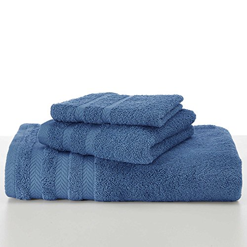 EGYPTIAN COTTON DRYFAST BATH TOWEL BY MARTEX - Premium, Luxurious, Top Hotel Quality - Soft, Absorbent, Machine Washable, Quick Drying - French Blue