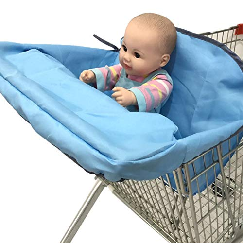 ONERIOME Foldable Baby Shopping Cart Cover Cushion Holder for Kids Trolley Seat Protection Super Soft Pad -Great Gift Ideal for Mom from ONERIOME