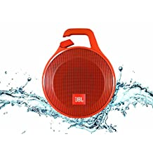 JBL Clip+ Portable Bluetooth Speaker, Orange