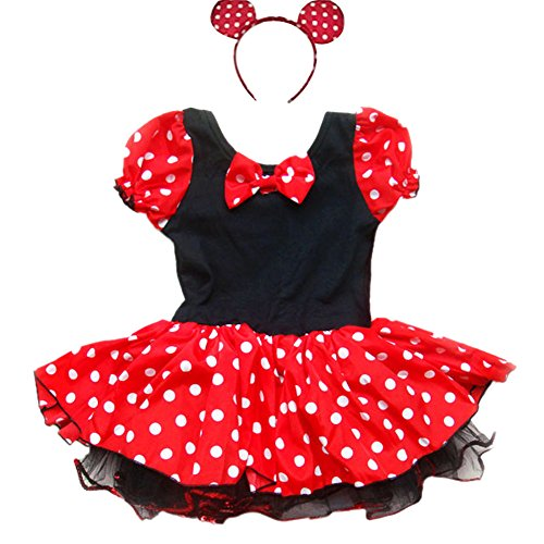 iEFiEL Little Girls Fancy Dressing up Costume Tutu Dress With Ear (Dressing Up Costumes Childrens)